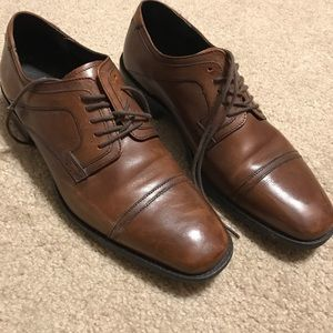 Johnston and Murphy brown dress shoes, size 9.5
